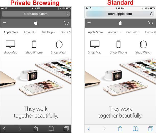 Open a Web Page in Private Browsing Mode